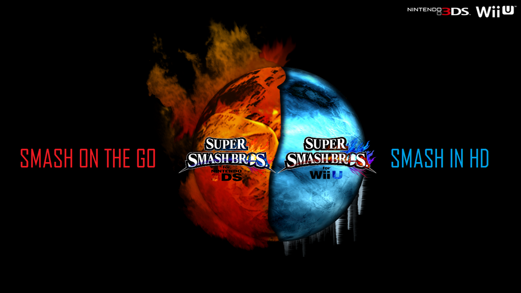 Super Smash Bros Wii U 3DS Logo Wallpaper 40 By TheWolfBunny