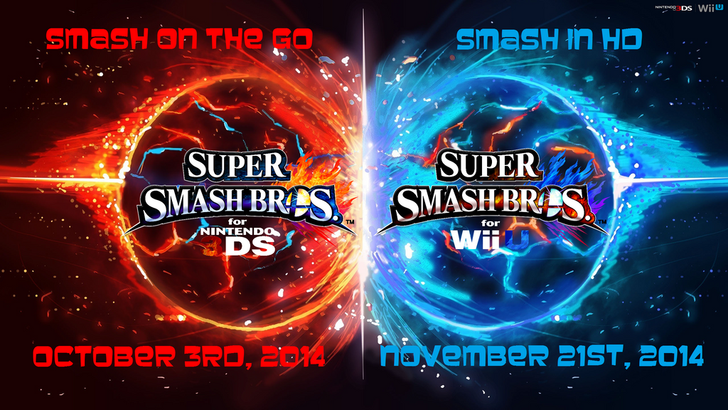 Super Smash Bros Wii U 3DS Logo Wallpaper 45 By TheWolfBunny