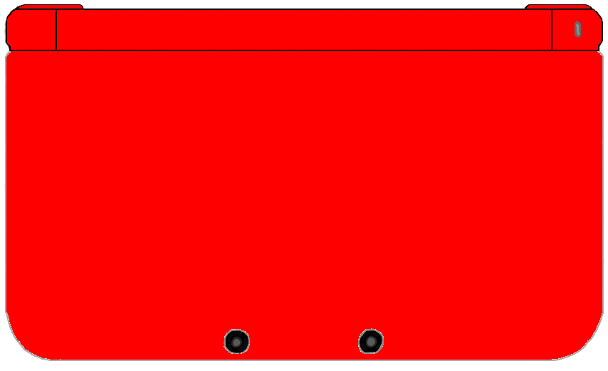 Nintendo 3DS XL - All-Red by TheWolfBunny on DeviantArt