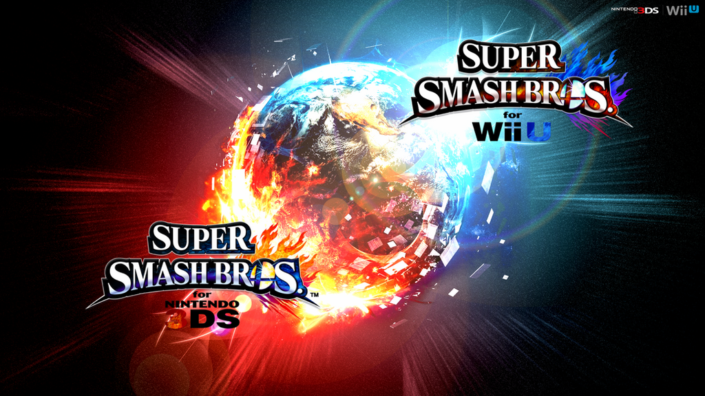 Super Smash Bros Wii U 3DS Logo Wallpaper 52 By TheWolfBunny