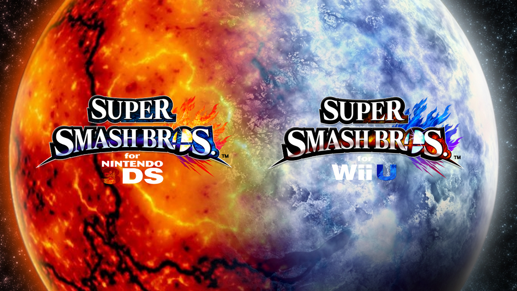 TheWolfBunny 7 0 Super Smash Bros Wii U 3DS Logo Wallpaper 91 By