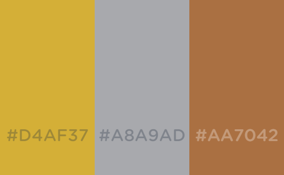 Metallic gold silver and bronze color schemes by - Gold and silver color scheme ...