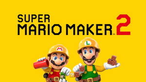 Super Mario Maker 2 Wallpaper by TheWolfBunny