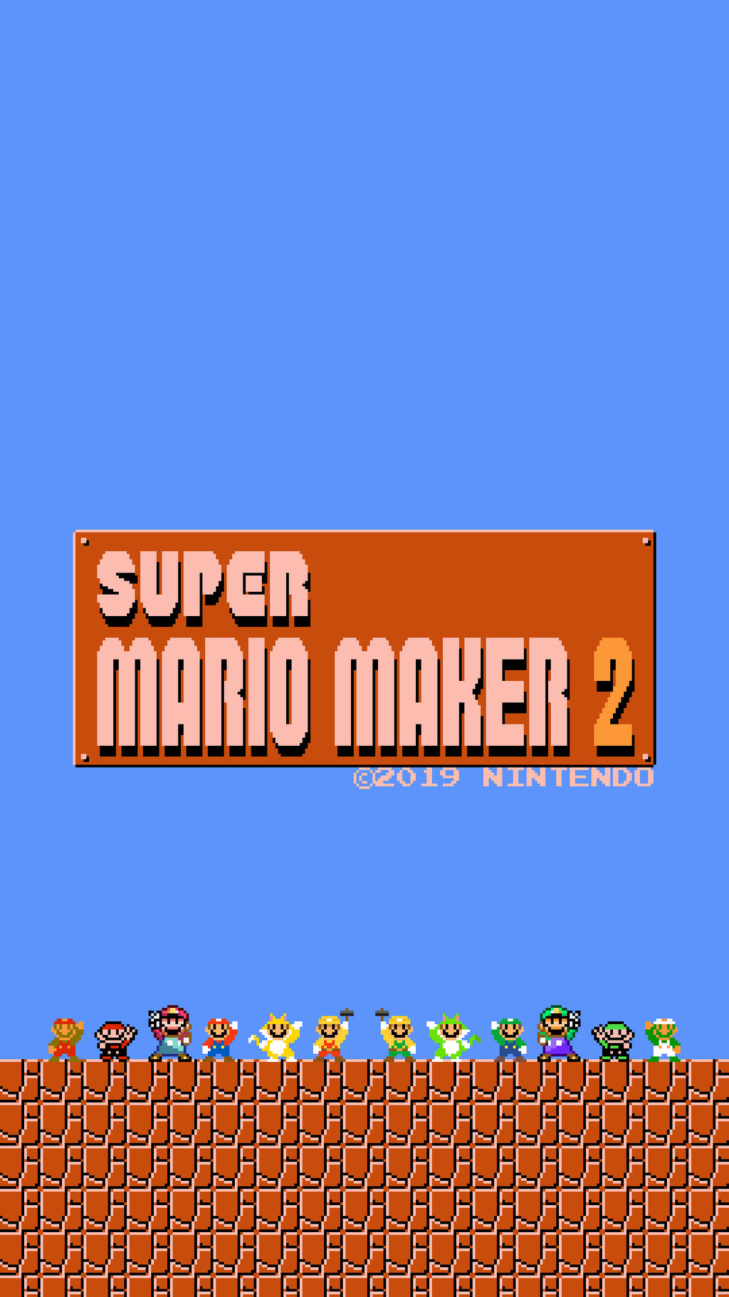 Super Mario Maker 2 Retro Mobile Wallpaper By Thewolfbunny On