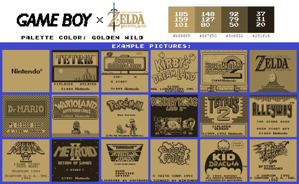 Game Boy Palette: Golden Wild