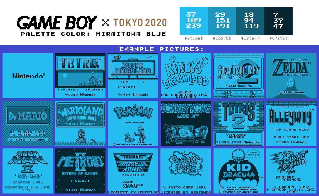 Game Boy Palette: Miraitowa Blue