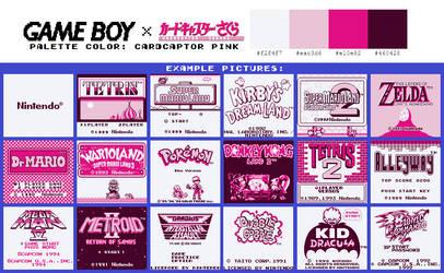 Game Boy Palette: Cardcaptor Pink