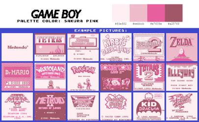 Game Boy Palette: Sakura Pink