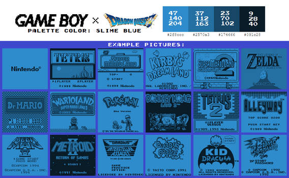 Game Boy Palette: Slime Blue