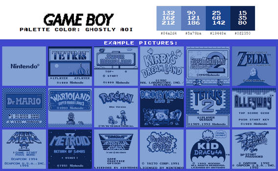 Game Boy Palette: Ghostly Aoi