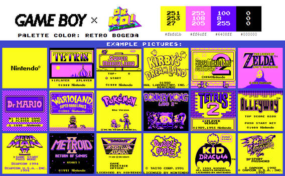 Game Boy Palette: Retro Bogeda