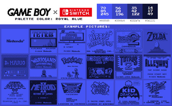 Game Boy Palette: Royal Blue
