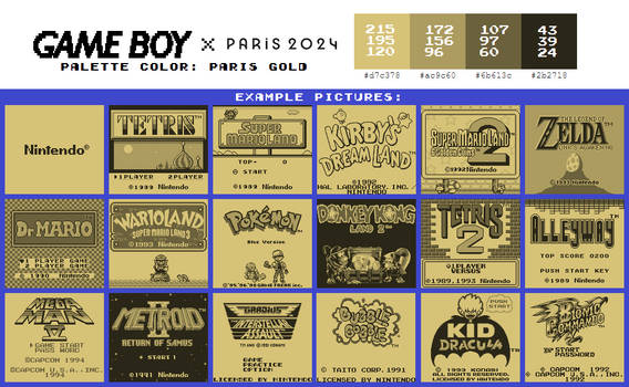 Game Boy Palette: Paris Gold