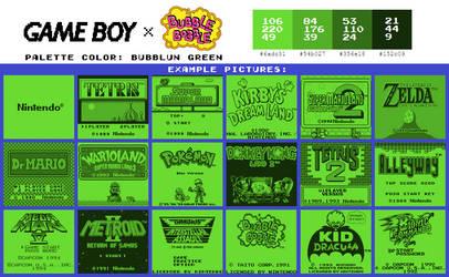 Game Boy Palette: Bubblun Green