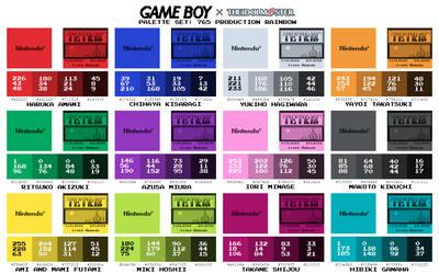 Game Boy Palette Set: 765 Production Rainbow