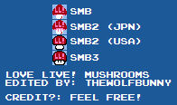 Love Live! Mushroom Sprites