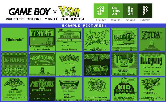 Game Boy Palette: Yoshi Egg Green