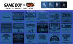 Game Boy Palette: Fury Blue