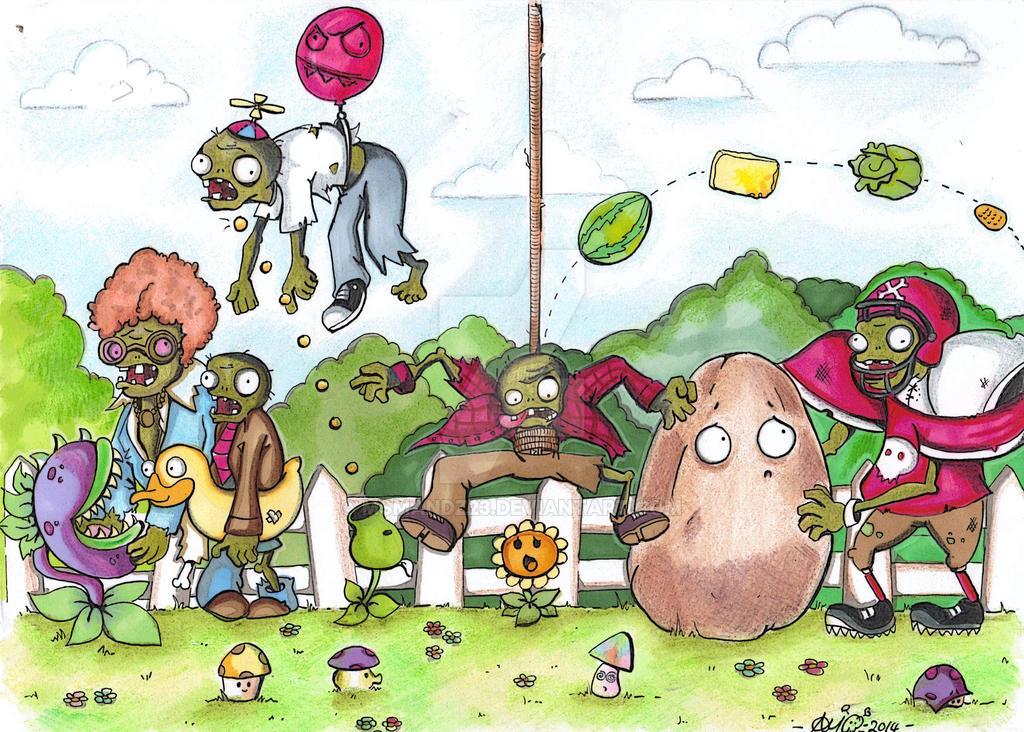 plants vs zombies fan art by msmandz23 on deviantart