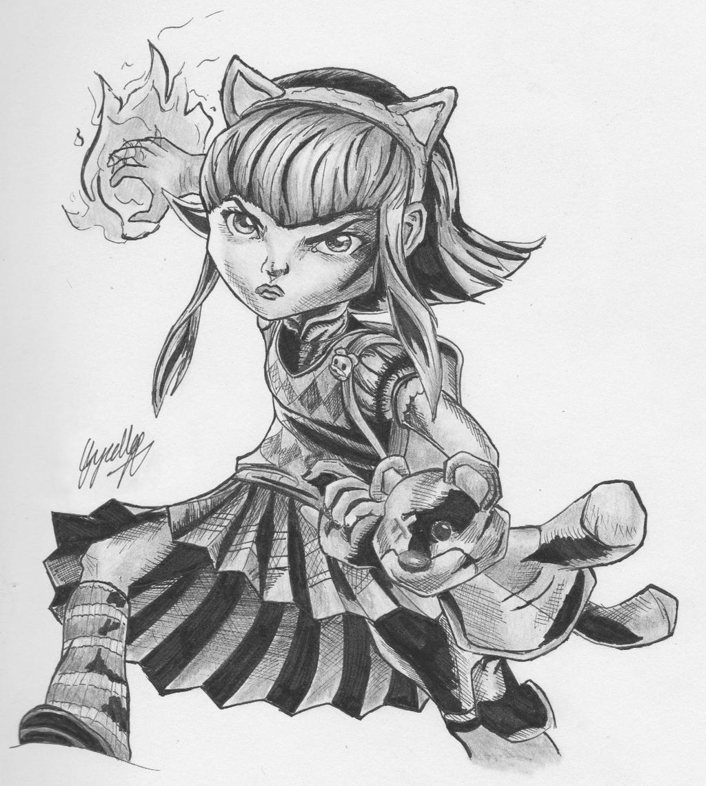 Annie Drawing (League of Legends) by glyzelley on DeviantArt