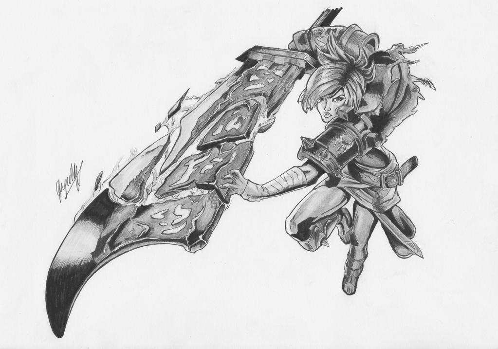 Riven Drawing (League of Legends) by glyzelley on DeviantArt