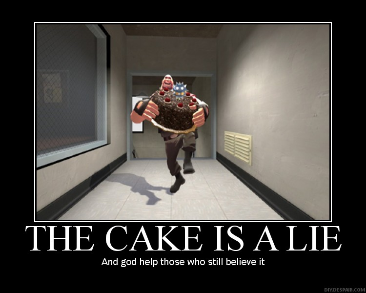 The Cake Is A Lie The Cube Is Forever