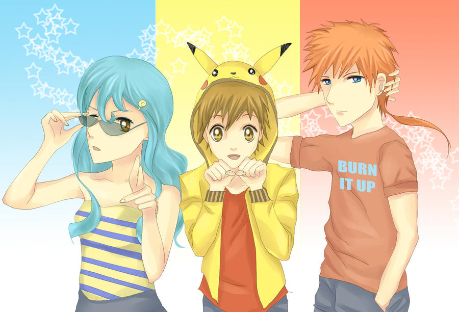 Pokemon: Three by vvlove