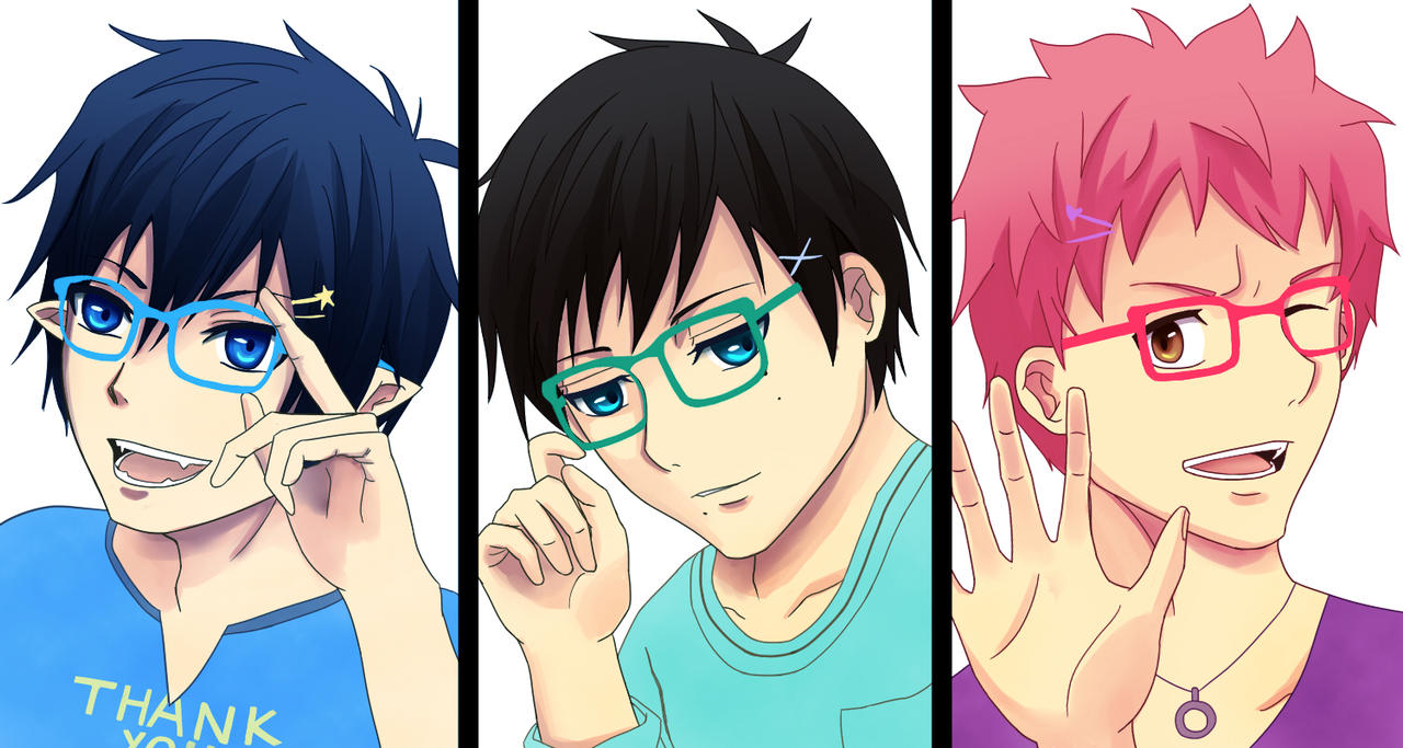 Boys wear glasses by vvlove