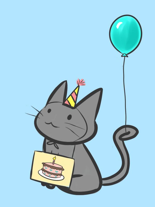 Birthday Cat by vvlove on DeviantArt