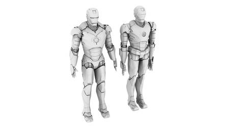 New Iron Man Model Compared to Old