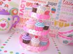 Beaded Cupcake Charms