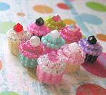 Super Tiny Beaded Cupcakes