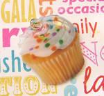 2D Realistic Cupcake Charm