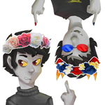 AT: sollux and kk flower crowns