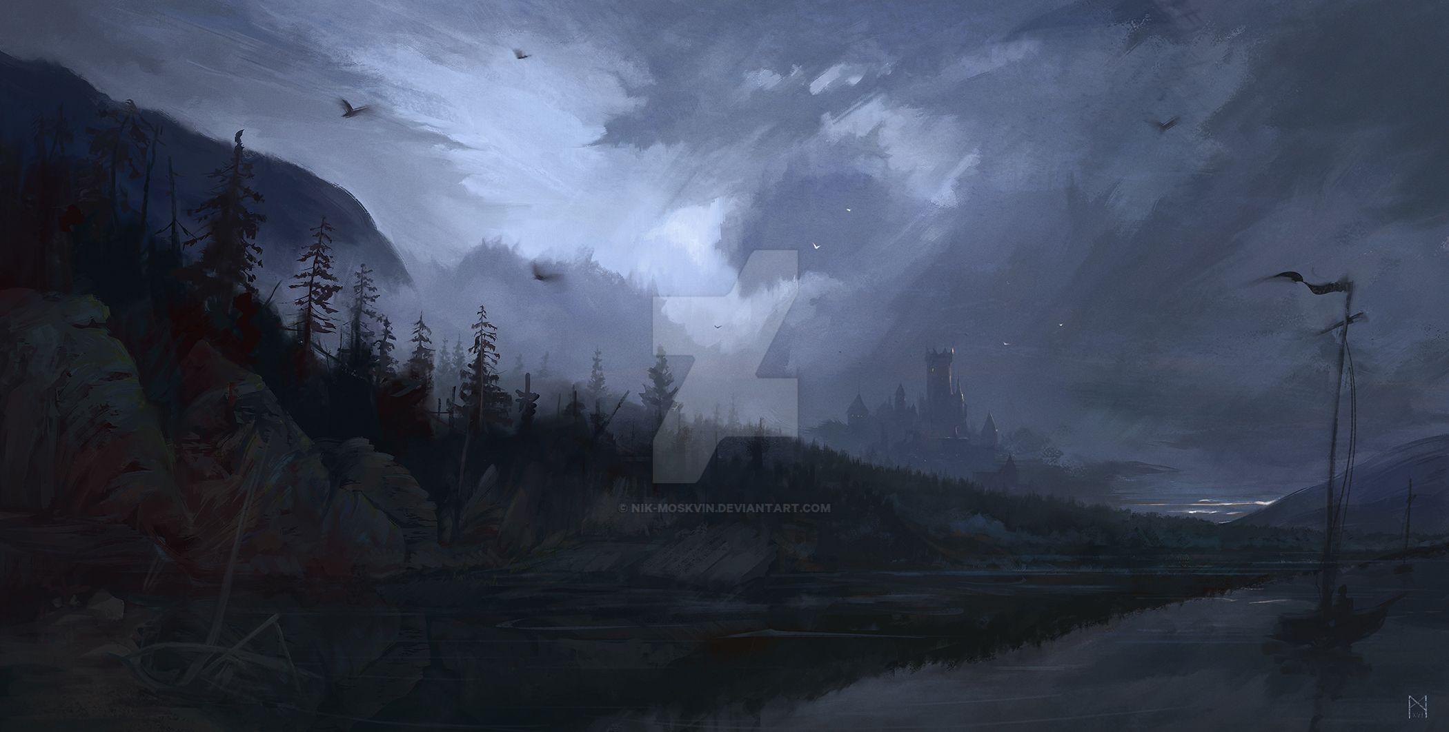 Forest lake by Nik-Moskvin