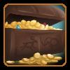 Overflowing Treasure Chest by CaveSpeaker
