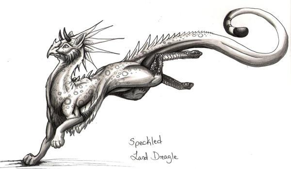 Speckled Land Dreagle by 7dragondame7