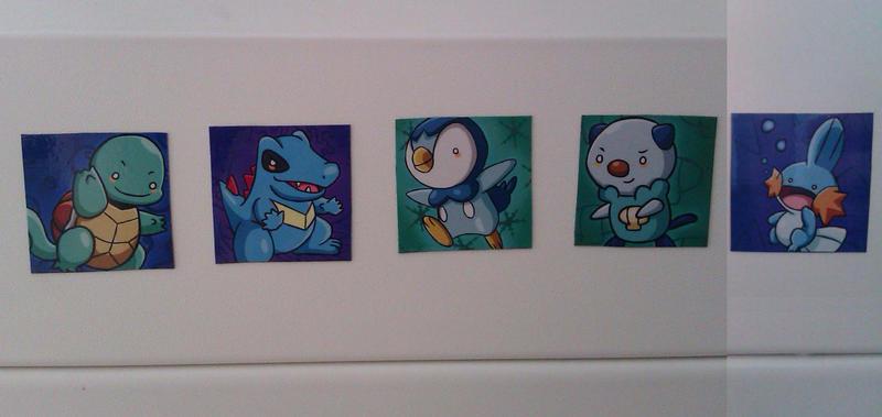 Pokemon Water Starter Set Magnets by MeoWmatsu
