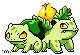 Shiny Bulbasaur and Ivysaur