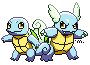 Shiny Squirtle and Wartortle by MeoWmatsu