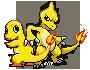 Shiny Charmander and Charmeleon by MeoWmatsu