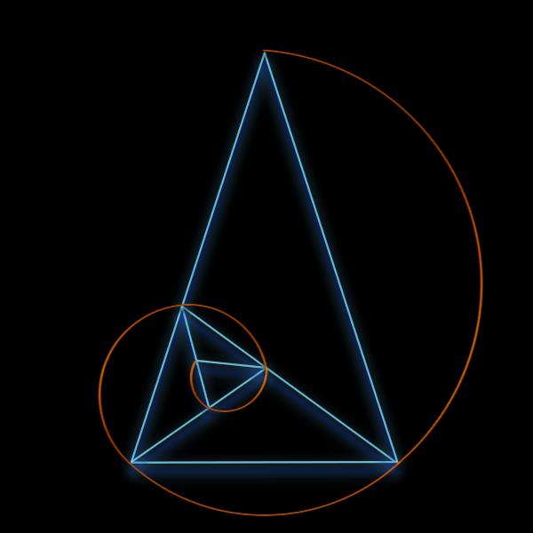 Golden spiral and triangle by bazelkeyz on deviantart for Golden ratio artwork