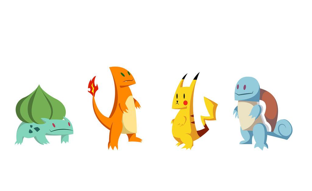 Flat Pokemon by Johann-D