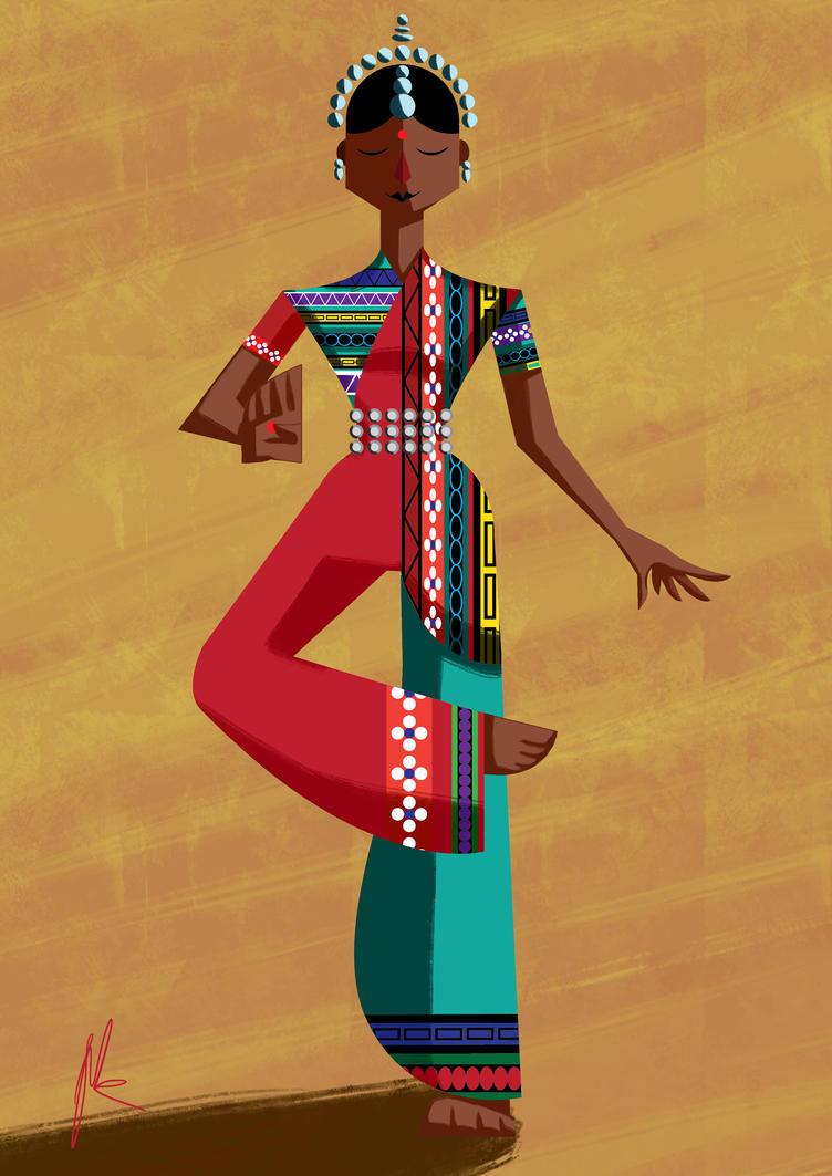 Indian Dancer by Johann-D