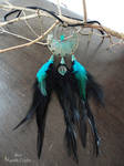 Patina Long Feather Necklace