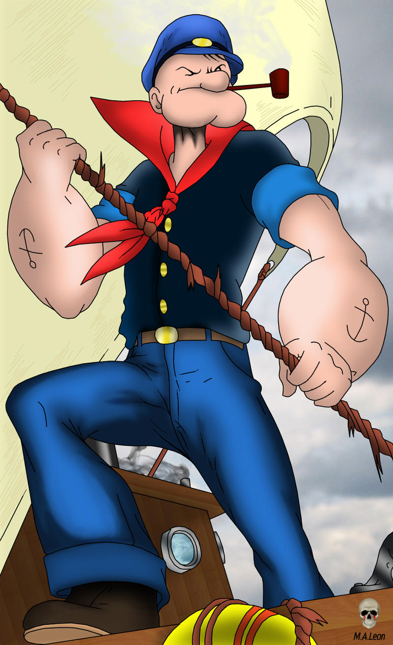 Popeye the sailor man by Leon4989
