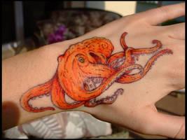 Octopus Sharpie Tattoo by DablurArt