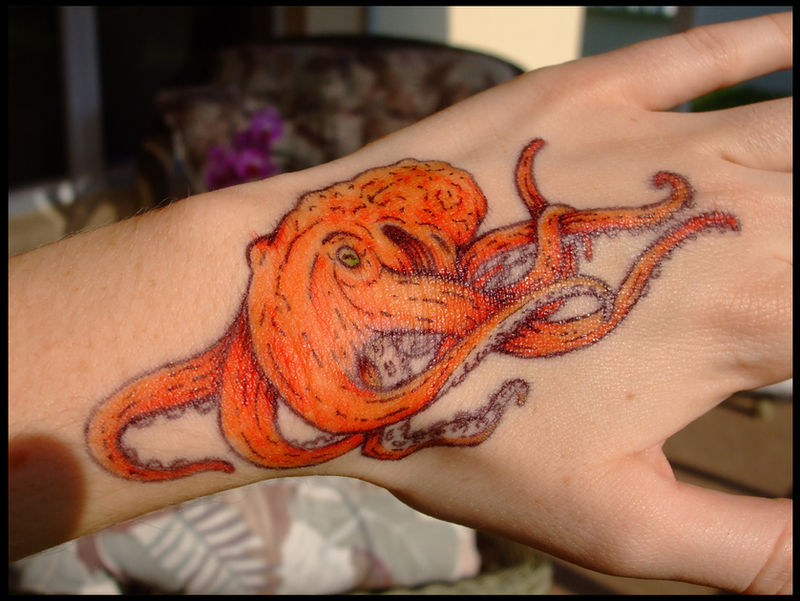 Octopus Sharpie Tattoo