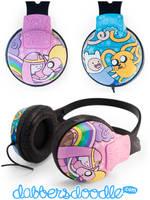 Adventure Time Headphones by DablurArt