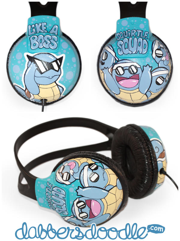 Squirtle Squad Headphones by DablurArt